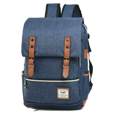 Buckle Straps Flap Canvas BackpackBuckle Straps Flap Canvas Backpack<br><br>Closure Type: Zipper<br>Gender: For Women<br>Handbag Size: Medium(30-50cm)<br>Handbag Type: Backpack<br>Interior: Interior Zipper Pocket<br>Main Material: Canvas<br>Occasion: Versatile<br>Package Contents: 1 x Backpack<br>Pattern Type: Others<br>Size(CM)(L*W*H): 30*11*38<br>Style: Casual<br>Weight: 1.2000kg