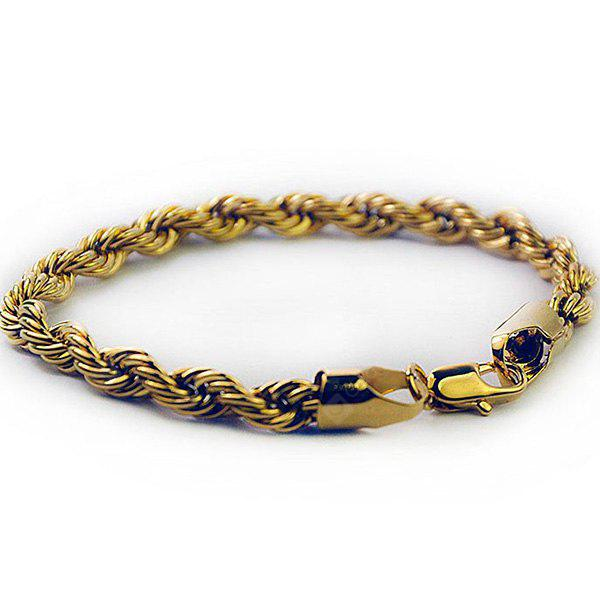 Plated Twisted Rope Bracelet