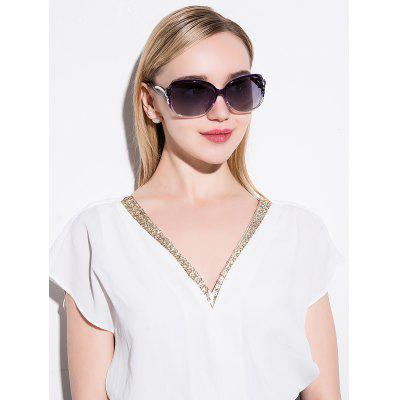 Hollow Cut Anti UV SunglassesStylish Sunglasses<br>Hollow Cut Anti UV Sunglasses<br><br>Frame Length: 13.7CM<br>Frame material: Other<br>Gender: For Women<br>Group: Adult<br>Lens height: 5.7CM<br>Lens material: Polycarbonate<br>Lens width: 6.4CM<br>Nose: 1.5CM<br>Package Contents: 1 x Sunglasses<br>Style: Fashion<br>Temple Length: 13.4CM<br>Weight: 0.1000kg