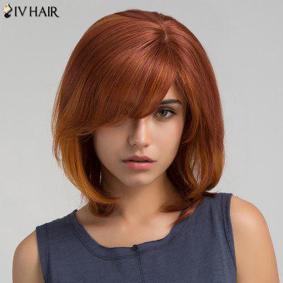 Short Side Bang Straight Bob peruca de cabelo humano