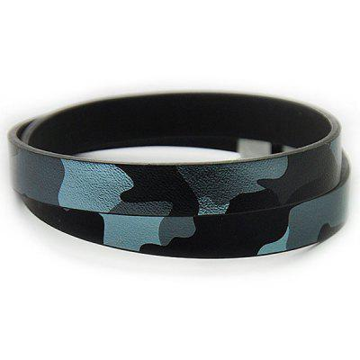Camouflage Faux Leather Infinity Bracelet