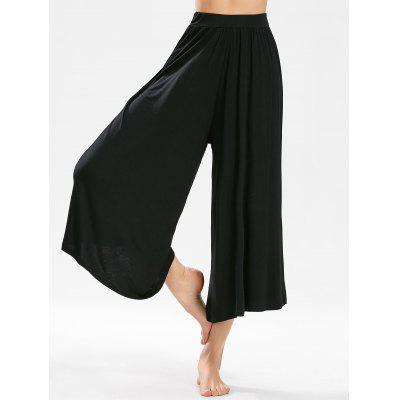 Buy BLACK Wide Leg Cropped Pants for $23.85 in GearBest store
