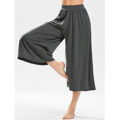 Buy DEEP GRAY Wide Leg Cropped Pants for $23.85 in GearBest store