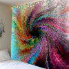 Psychedelic Vortex Print Waterproof Wall Tapestry - COLORFUL
