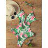 Halter Floral Criss Cross Swimwear - COLORMIX