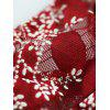 Floral Lace Elastic String Thongs - RED