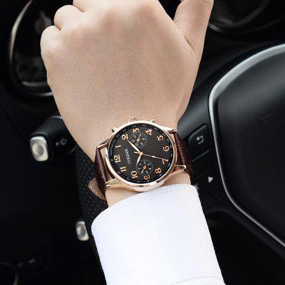 OUKESHI Faux Leather Strap Number Tachymeter WatchMens Watches<br>OUKESHI Faux Leather Strap Number Tachymeter Watch<br><br>Band Length(CM): 25.5cm<br>Band material: PU Leather<br>Band Width(CM): 2.2cm<br>Case material: Alloy<br>Case Thickness(MM): 20mm<br>Dial Diameter: 4.2cm<br>Dial Shape: Round<br>Gender: For Men<br>Index Dial: Analog<br>Movement: Quartz<br>Package Contents: 1 x Watch<br>Style: Fashion<br>Type: Quartz watch<br>Water-Proof: No