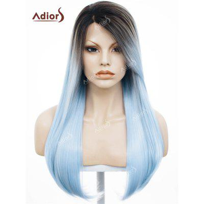 Adolescentes Long Free Part Ombre Straight Lace Front Synthetic Wig