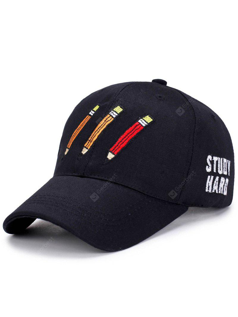 Cartoon Pencil Letters Embroidery Baseball Hat