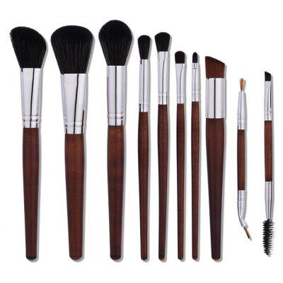 10Pcs Aluminum Tube Nylon Makeup Brushes Set 5pcs makeup brushes tools professional cosmetics blush face powder brushes kit makeup brush set for women foundation make up