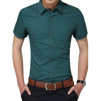 Tiny Printed Short Sleeve Shirt