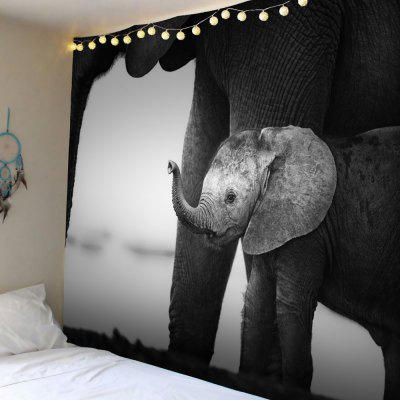 Vintage Elephant Print Wall Tapestry