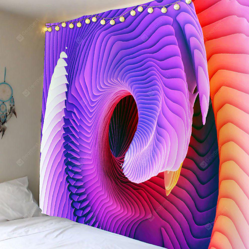 COLORFUL 3D Psychedelic Ombre Waterproof Tapestry