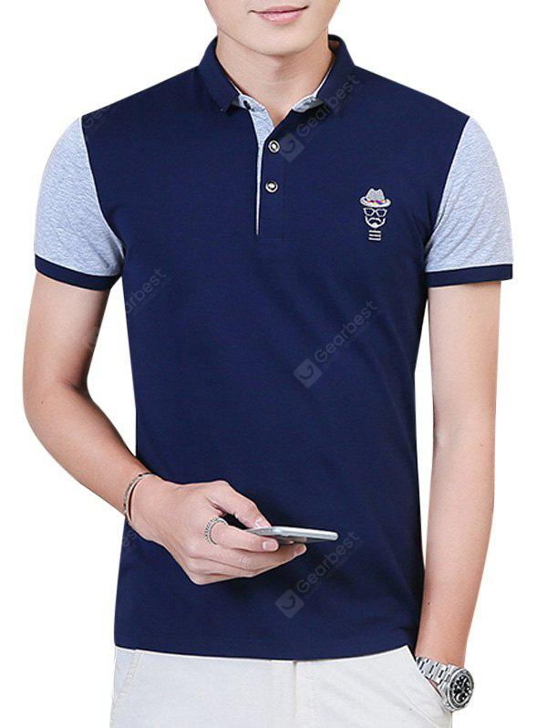 Two Tone Embroidery Polo Shirt