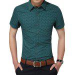 Tiny Printed Short Sleeve Shirt - VERT