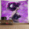 Africa Girl Oil Painting Wall Tapestry - PURPLE