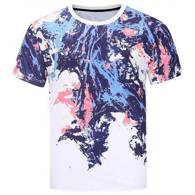 Buy COLORMIX Crew Neck Colorful Splatter Paint Print T-shirt for $15.22 in GearBest store