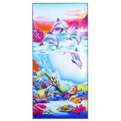 Ocean Beach Print Polyester Fabric Bath Towel