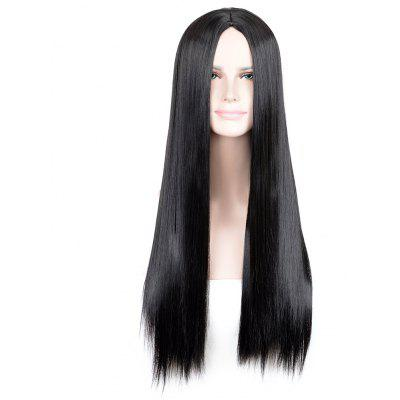 Peruca sintética de Cosplay Long Part Middle Part Straight