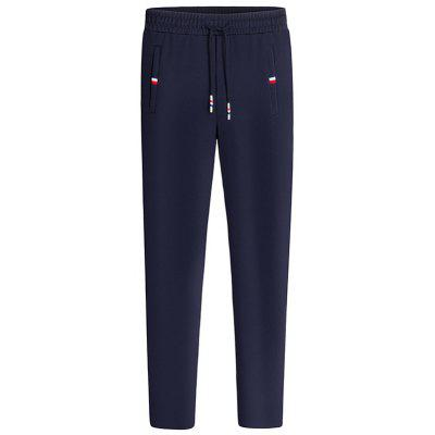 Buy PURPLISH BLUE Straight Leg Drawstring Waist Sweatpants for $31.76 in GearBest store