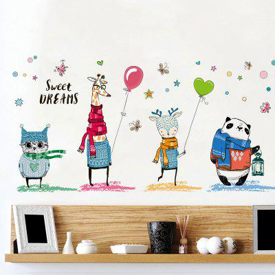 Cartoon Animal Kids Room Decor Wall Sticker
