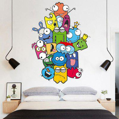 Buy COLORMIX Removable Vinyl Cartoon Nursery Wall Sticker for $4.24 in GearBest store
