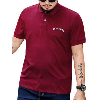 Plus Size Embroidery Polo Shirt