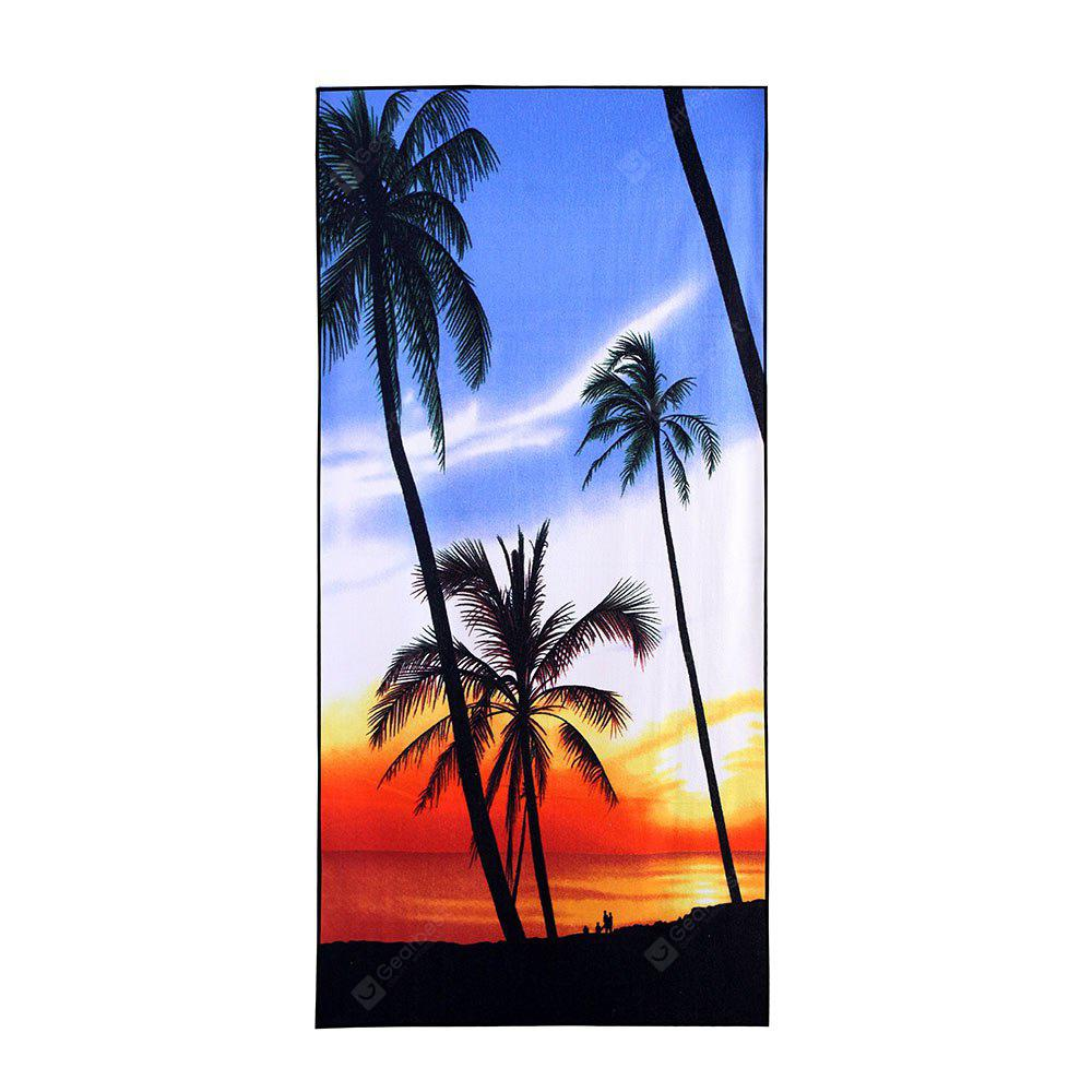 Tropical Coconut Tree Beach Print Soft Bath Towel