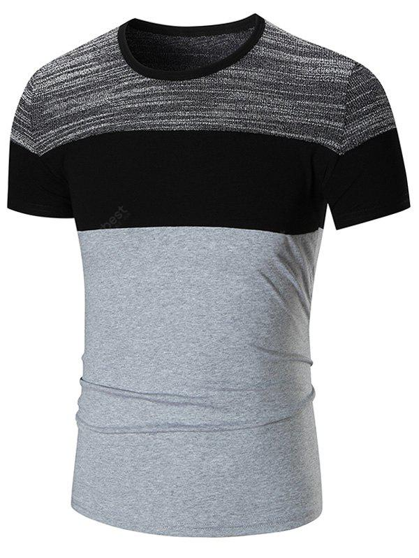 Stretch Color Block T-shirt