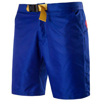 Zipper Fly Straight Leg Shorts