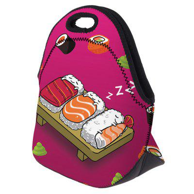 Food Print Lunch BagLunch Bags<br>Food Print Lunch Bag<br><br>Closure Type: Zipper<br>Gender: For Women<br>Handbag Size: Small(20-30cm)<br>Handbag Type: Other<br>Main Material: Polyester<br>Occasion: Versatile<br>Package Contents: 1 x Lunch Bag<br>Pattern Type: Print<br>Size(CM)(L*W*H): 28*14*26.5<br>Style: Casual<br>Weight: 0.6000kg
