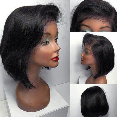 Short Side Part Straight Bob Lace frente cabelo humano peruca
