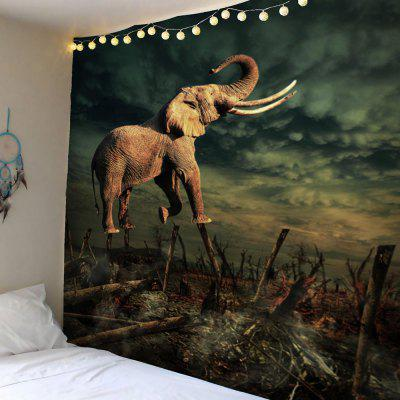 Home Decor Elephant Forest Wall Tapestry