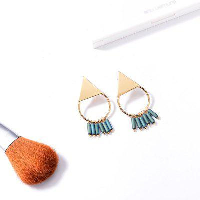 Triangle Round Fringed Earrings