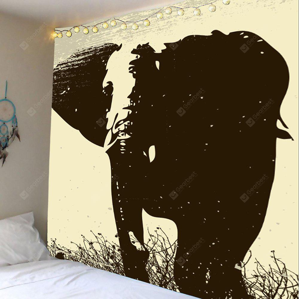 Vintage Elephant Print Wall Hanging Tapestry