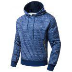Polar Fleece Side Zip Pocket Design Hoodie - BLUE