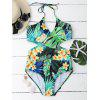 Wrap Jungle Floral One Piece Swimsuit - COLORMIX