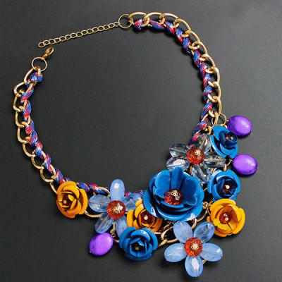 Statement Flower Chunky Necklace