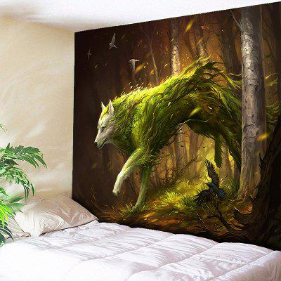 Animal Wall Hanging Forest Wolf Print Tapestry
