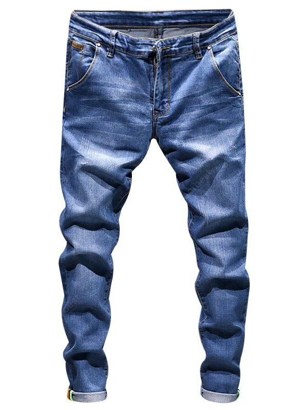 Ripped Zip Fly Skinny Jeans