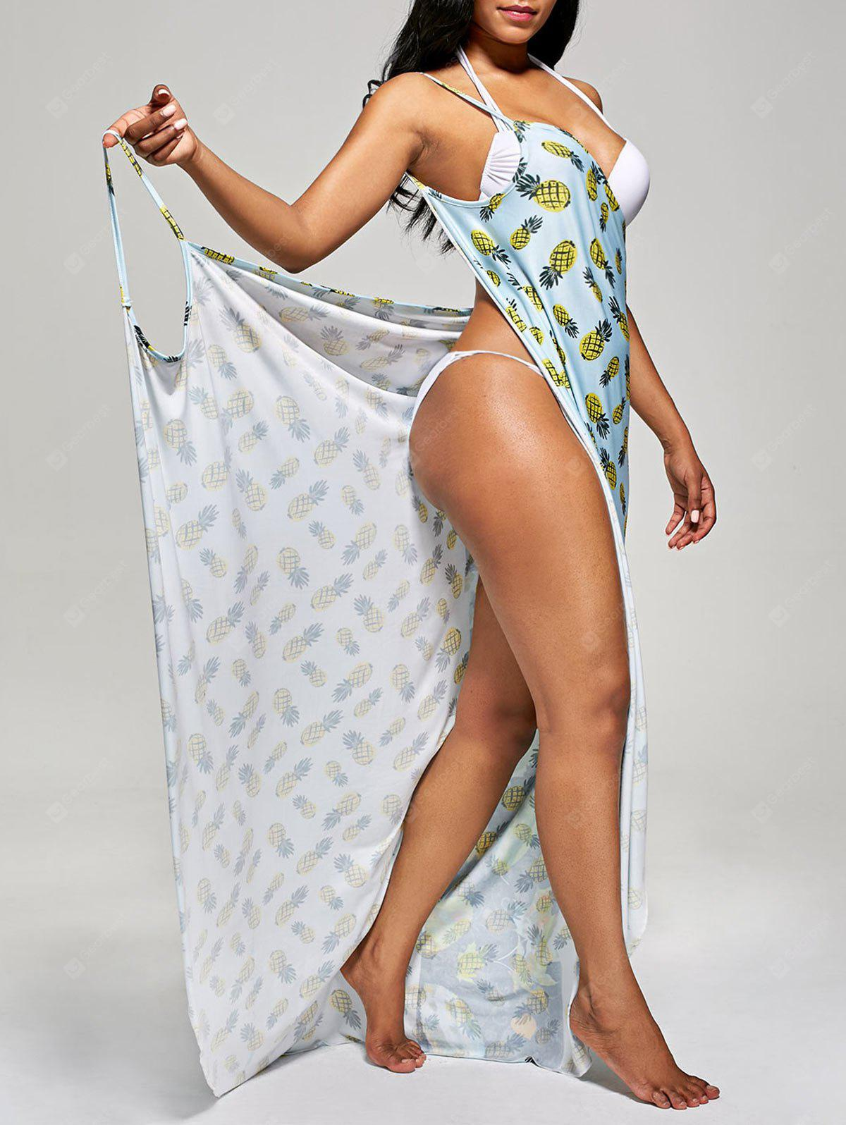 Pineapple Wrap Cami Cover Up Dress