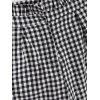 Ruffles Checked Wide Leg Pants - CHECKED