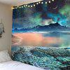 Moon Star Lake Mountain Wall Tapestry - COLORFUL