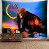 Home Decor Elephant Mammoth Wall Tapestry - COLORFUL