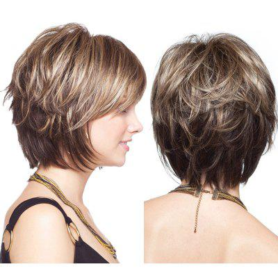 Buy COLORMIX Short Layered Shaggy Colormix Straight Synthetic Wig for $17.66 in GearBest store