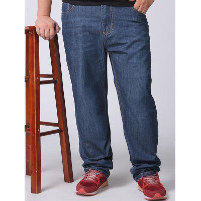 Loose Fit Straight Leg Plus Size Jeans