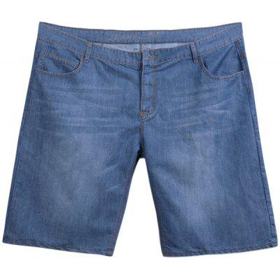 Faded Plus Size Denim Shorts