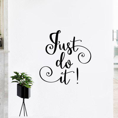Just Do It Letter Inspirational Wandaufkleber