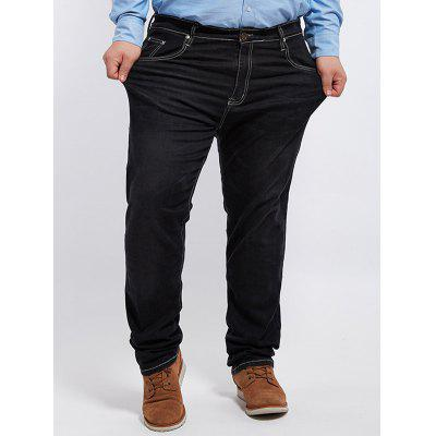 Plus Size Cuffed Jeans