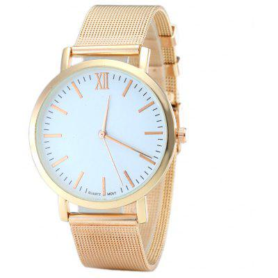 Buy ROSE GOLD Alloy Mesh Strap Minimalist Quartz Watch for $6.56 in GearBest store